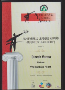 DInesh Verma - Leaders and Achievers Award 2012