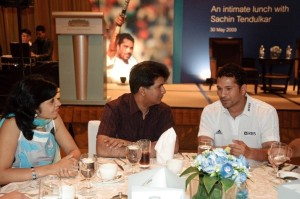 An intimate lunch with Sachin Tendulkar